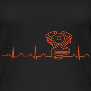 T-Shirt mit Heartbeat Motiv in orange - Frauen Bio Tank Top