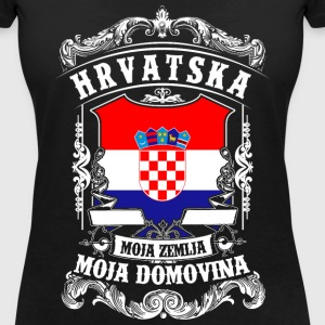 HRVATSKA - Croatia - Croatia T-Shirts - Women's V-Neck T-Shirt