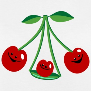 Three cherries T-shirts - Vrouwen oversize T-shirt