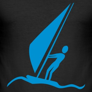 Windsurfer T-Shirts - Männer Slim Fit T-Shirt