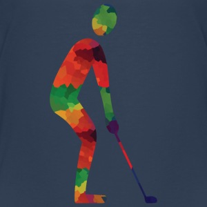 Farvede golf shirts - Teenager premium T-shirt