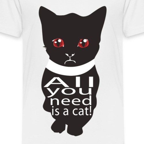 Katzen T Shirt mit Katzenmotiv Katze need a cat