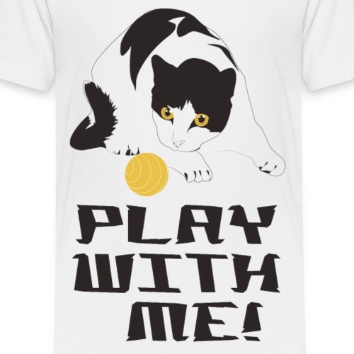 Katzen T Shirt mit Katzenmotiv Katze spiel mit mir