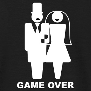 Svart Game Over T-shirts - T-shirt herr