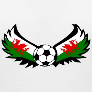 Voetbal Wales T-Shirts - Vrouwen T-shirt met V-hals