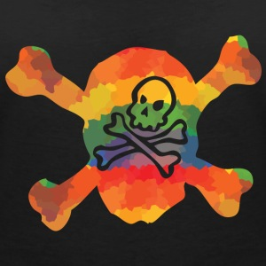 Colored double skull T-Shirts - Women's V-Neck T-Shirt