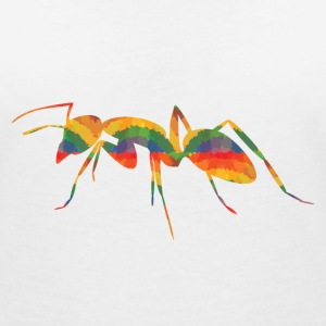 Colored ants T-Shirts - Women's V-Neck T-Shirt