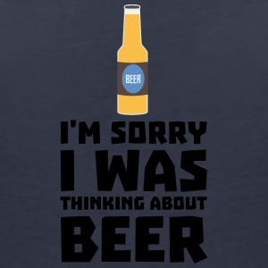 Thinking about beer bottle S860x T-Shirts - Women's V-Neck T-Shirt