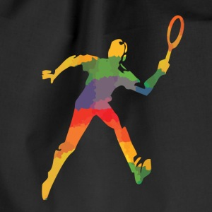 Coloured tennis player bags & backpacks - Drawstring Bag
