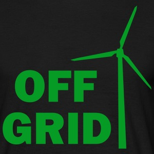 Off Grid in Green on black - Men's T-Shirt