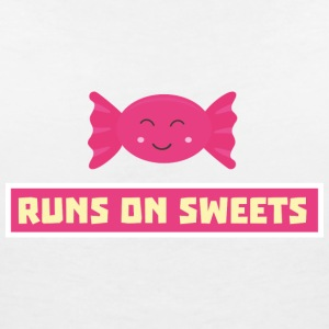 Funny running S9s1b in candy T-Shirts - Women's V-Neck T-Shirt