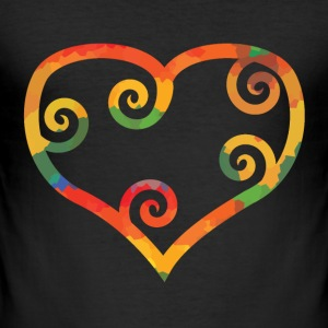 Colored heart T-Shirts - Men's Slim Fit T-Shirt