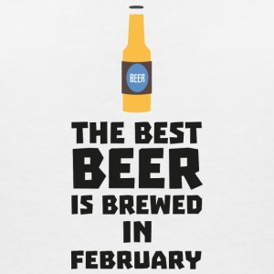 Best beer is brewed in February. S4i8g T-Shirts - Women's V-Neck T-Shirt