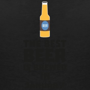 Best Beer is brewed in January Sxe8k T-shirts - T-shirt med v-ringning dam