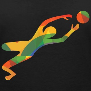 Colourful goalkeeper T-Shirts - Women's V-Neck T-Shirt