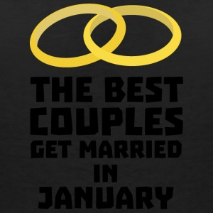 The best couples in January S00xc T-Shirts - Women's V-Neck T-Shirt