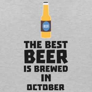In October, best beer is brewed. S5k5z T-Shirts - Women's V-Neck T-Shirt