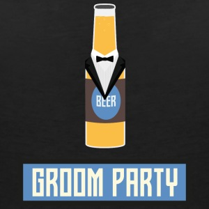 Groom party beer bottle S77yx T-Shirts - Women's V-Neck T-Shirt