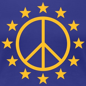 Europe Peace Sign, EU stars, flag, symbol T-Shirts - Women's Premium T-Shirt