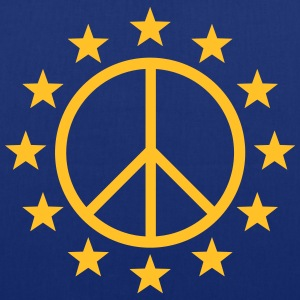 Europe Peace Sign, EU stars, flag, symbol Bags & Backpacks - Tote Bag