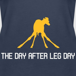 The Day After Leg Day - Frauen Premium Tank Top