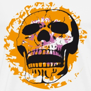 Skull on color patch T-Shirts - Men's Premium T-Shirt