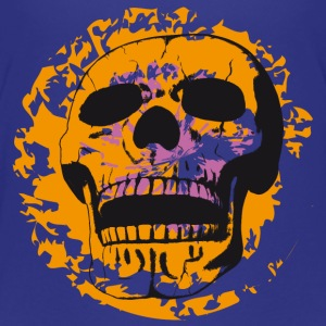 Skull on color patch Shirts - Teenage Premium T-Shirt