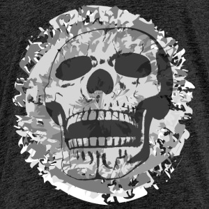 Skull on grey patch Shirts - Teenage Premium T-Shirt