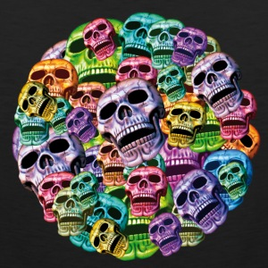 colorful Skulls in a round frame Sports wear - Men's Premium Tank Top