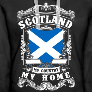 Scotland - My country - My home Bluzy - Bluza damska Premium z kapturem