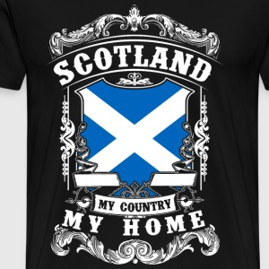 Scotland - My country - My home T-shirts - Premium-T-shirt herr