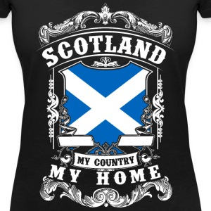 Scotland - My country - My home T-Shirts - Frauen T-Shirt mit V-Ausschnitt