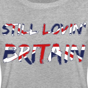 Still Lovin Britain Brexiters Union Jack Flag T-Shirts - Women's Oversize T-Shirt