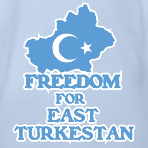 Freedom for East Turkestan Baby Bodysuits - Organic Short-sleeved Baby Bodysuit