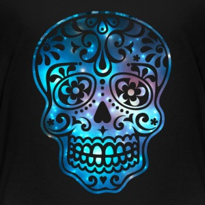Sugar Skull, Space, Galaxy Style, Cosmic Shirts - Kinderen Premium T-shirt
