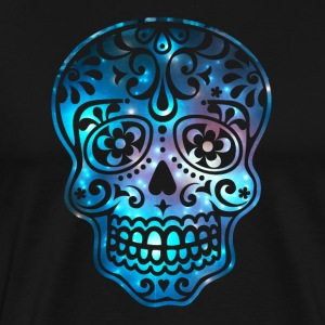 Sugar Skull, Space, Galaxy Style, Cosmic T-Shirts - Men's Premium T-Shirt