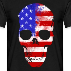 America skull Tee shirts - T-shirt Homme
