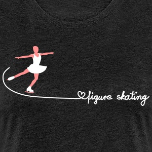 love figure skating T-Shirts - Frauen Premium T-Shirt