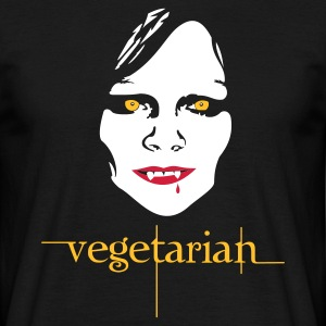 Black vegetarian vampire Men's T-Shirts - Men's T-Shirt