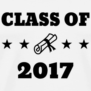 Class of 2017 - School - Schule - Ecole - Student T-shirts - Herre premium T-shirt