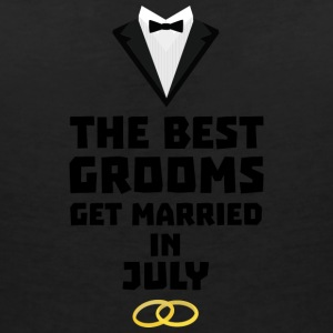 The best groom in July S3uvi T-Shirts - Women's V-Neck T-Shirt