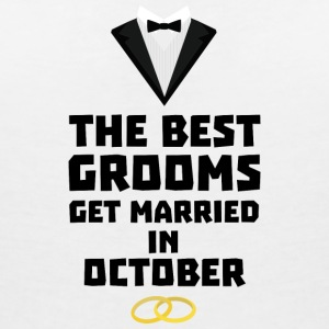 The best groom in October Stf13 T-Shirts - Women's V-Neck T-Shirt