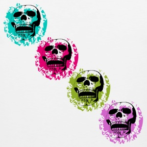 Four skulls on color patches Sports wear - Men's Premium Tank Top