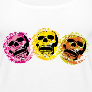 Three skulls Tops - Women's Premium Tank Top