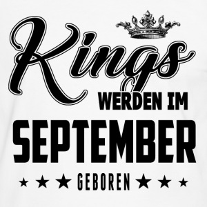 Kings - September - Geboren - Männer Kontrast-T-Shirt