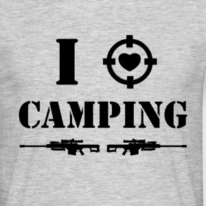 i love camping - black Tee shirts - T-shirt Homme