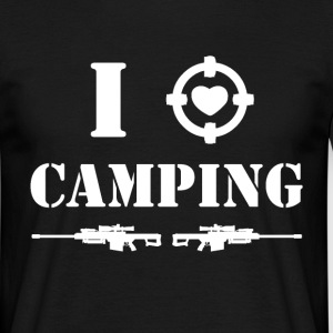 i love camping - white Tee shirts - T-shirt Homme