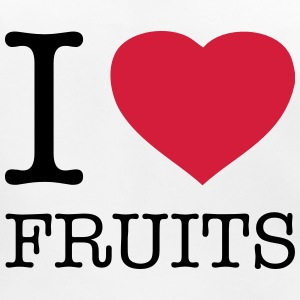 I LOVE FRUITS - Ekologisk babyhaklapp