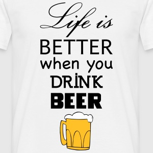 life_beer t-shirt - Men's T-Shirt