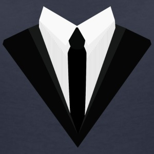 Black Tuxedo with white bow tie S140f T-Shirts - Women's V-Neck T-Shirt